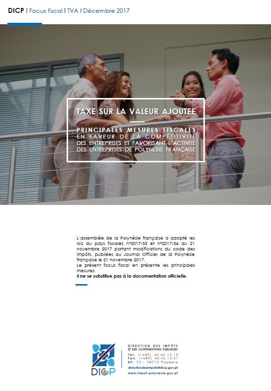 Mesures Fiscales Relatives A La Taxe Sur La Valeur Ajoutee En Faveur
